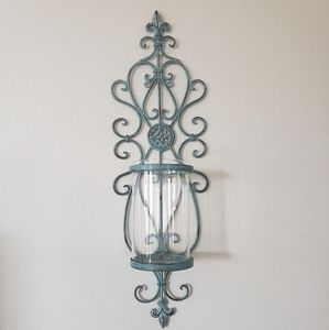 Distressed Wall Candle Holder